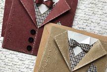 Skjort/slips/sløyfe-kort