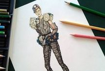 Valie's art / Fashion illustrations and draws realized by me.