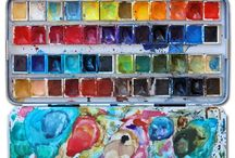 Kreativ inspiration - vandfarver