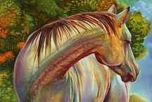 Horse Artwork / Find Painting Inspiration Like Maggie Does in Starfish Street