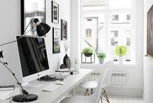 Office / #Bureau #travail #pièce #chaise #lampe   Le bureau est la pièce idéale pour travailler, échanger des informations.