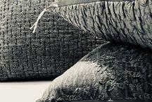 Coussins jacquard stone washed / Coussins jacquard stone washed en lin ou coton