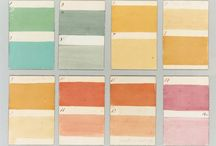 color   palettes / color schemes, palettes and color stories found on the internet.