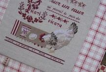 Roosters Cross stitch