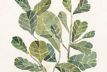 motif   leaves / inspirational leaves