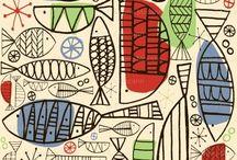 motif | fish / inspirational fish illustration, design