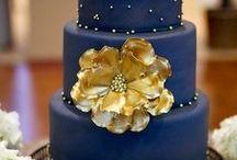 Hochzeit in Blau und Gold / Farbkonzept Hochzeit in Blau + Gold