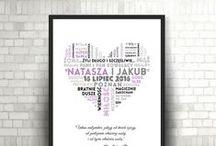 Prezent ślubny / Spersonalizowany plakat, grafika, typografia, metryczka- prezent ślubny