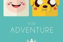 Adventure time / Desenhos de hora de aventura e sobre este