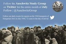 ASG Twitter Project: the Hungarian Transports / To commemorate the action of the Hungarian transports, the Auschwitz Study Group's (ASG) official Twitter account will follow a day in the history of the Hungarian transports to Auschwitz for the entire month of July 2016.   Check out our website:  http://auschwitzstudygroup.com/home/twitter-july-2016