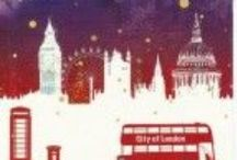 Capital ideas for Christmas cards / London in the limelight. Perfect for sending overseas.
