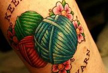 Handicraft themed tattoos / Handicraft themed tattoos/Knitting tattoos/Sewing tattoos