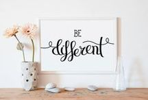 Wall Art by Printable Wall Story / Printable Wall Story is an etsy shop that you can find unique wall art, printable wall art, wall decor, quote poster, typography, typographic poster, printable quote pieces.   https://www.etsy.com/shop/PrintableWallStory