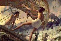 Art - Fantasy Illustration / Worlds imagined, story style.