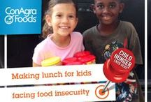 Child Hunger Ends Here / There's no reason any child in the U.S. should be hungry.  It may not be obvious, but it is happening at alarming rates.  The statistics we share here are not uplifting and seem unbelievable, but unfortunately they are the reality.   / by ConAgra Foods