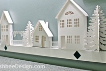 Little houses / Tiny houses to make or collect including links to svg files for paper crafting.