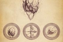 Art - Maps, Type, Time, and Symbols / The bones of earth and time and words.