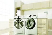 Samsung Laundry Room Design / Samsung's laundry rooms are as beautiful as the sight and smell of clean clothes. Look here for beautiful washers and dryers and find inspiration for how to organize your laundry room to best suit your lifestyle.  / by Samsung Home