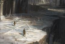 Art - Fantasy Environments / Visions of other worlds.