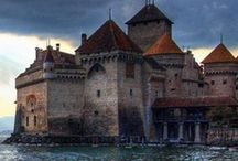 Places - Fantasy Settings - Castles and Cottages / Stone and wood and fortress.