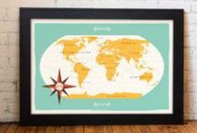 Maps / Word maps, hand drawn maps, graphic maps - I love them all!