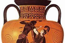 Grieken vazen zwart op rood