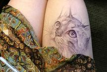 cat + Tatoos= Cattoos! / Tatuagens com tema de gatos.
