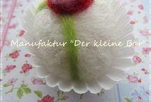Süßigkeiten, die garantiert nicht dick machen ... by Tante Nana / ♥  liebevoll von Hand gefilzte Törtchen, Pralinen & sonstige Süßigkeiten ♥  handmade by Tante Nana