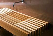 Lavabos de madera | Wood washbasins / Selección de lavabos de madera en Barcelona | Diseños clásicos y modernos de lavabos de madera | Marcas de lavabos de madera | Diseños madera para cuartos de baño