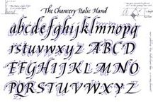 calligraphy ideas/fonts