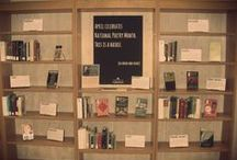 Basement Display: National Poetry Month Display / Past Basement Display in Wilson Celebrates National Poetry Month