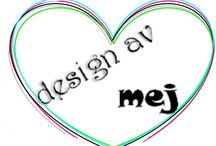 Design av mej / This is My pin with everything I making