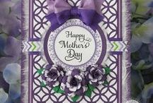 Mothers Day / A selection of crafty ideas using Cheery Lynn Designs dies with 'Mom' in mind.