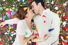 * Wedding multi colour * / Wedding styling thema, samengesteld door Oh Happy Day. www.ohhappyday.nl