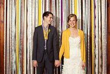 * Wedding yellow & blue * / Wedding styling thema, samengesteld door Oh Happy Day. www.ohhappyday.nl