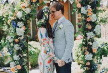* Wedding bohemian colour * / Wedding styling thema, samengesteld door Oh Happy Day. www.ohhappyday.nl