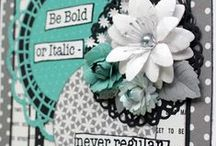 Sentiments Dies / A selection of Sentiment Dies from Cheery Lynn Designs used in creative ways.