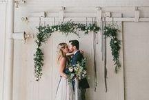 * Ceremony backdrops * / Wedding styling thema, samengesteld door Oh Happy Day. www.ohhappyday.nl