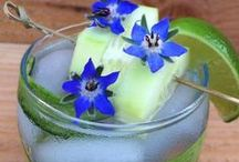 Specialty Cocktails with Edible Flowers & Herbs