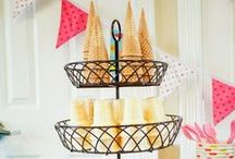 Ice Cream Parties / Follow us as we continually add all the best ice cream party ideas- from invitations, to décor, to the favors, and of course to the ice cream itself!