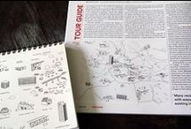 A10 / Illustrations for Architecture Tour Guide, a bimonthly reportage by A10 magazine