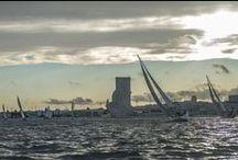 """Lisboa e o Rio / """"logo a abrir, apareces-me pousada sobre o Tejo como uma cidade de navegar"""" José Cardoso  Pires"""