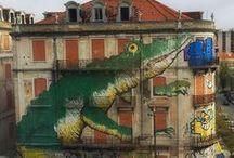 Lisboa e a Arte Urbana / Lisboa já se tornou conhecida mundialmente pela qualidade da sua arte urbana. Por toda a cidade é possível encontrá-las. Eis algumas imagens