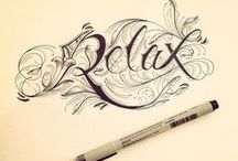 Calligraphy abc