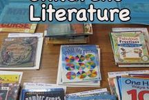 """Math in Literature /  """"Using math related children's literature can help children realize the variety of situations in which people use mathematics for real purposes""""  -David Whitin We try to incorporate Math and Literature with cool books, lessons who includes both and tips!"""