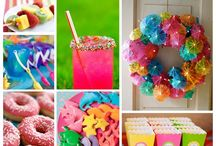 Coloured Party Ideas / Www.thebigdayplanning.com Www.hostesspro.co.za Crafts and Sugar Crafts