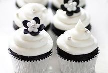 Black and White Cakes and Cup Cakes / Www.thebigdayplanning.com Www.hostesspro.co.za Crafts and Sugar Crafts
