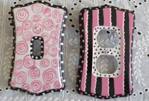 Light switch covers / Class and Polymer Clay Www.hostesspro.co.za