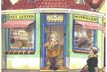 het letterwinkeltje / het letterwinkeltje - prentenboek en les ideeën.