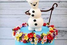 Disney Frozen cakes / Decorating ideas for Disney Frozen Cakes